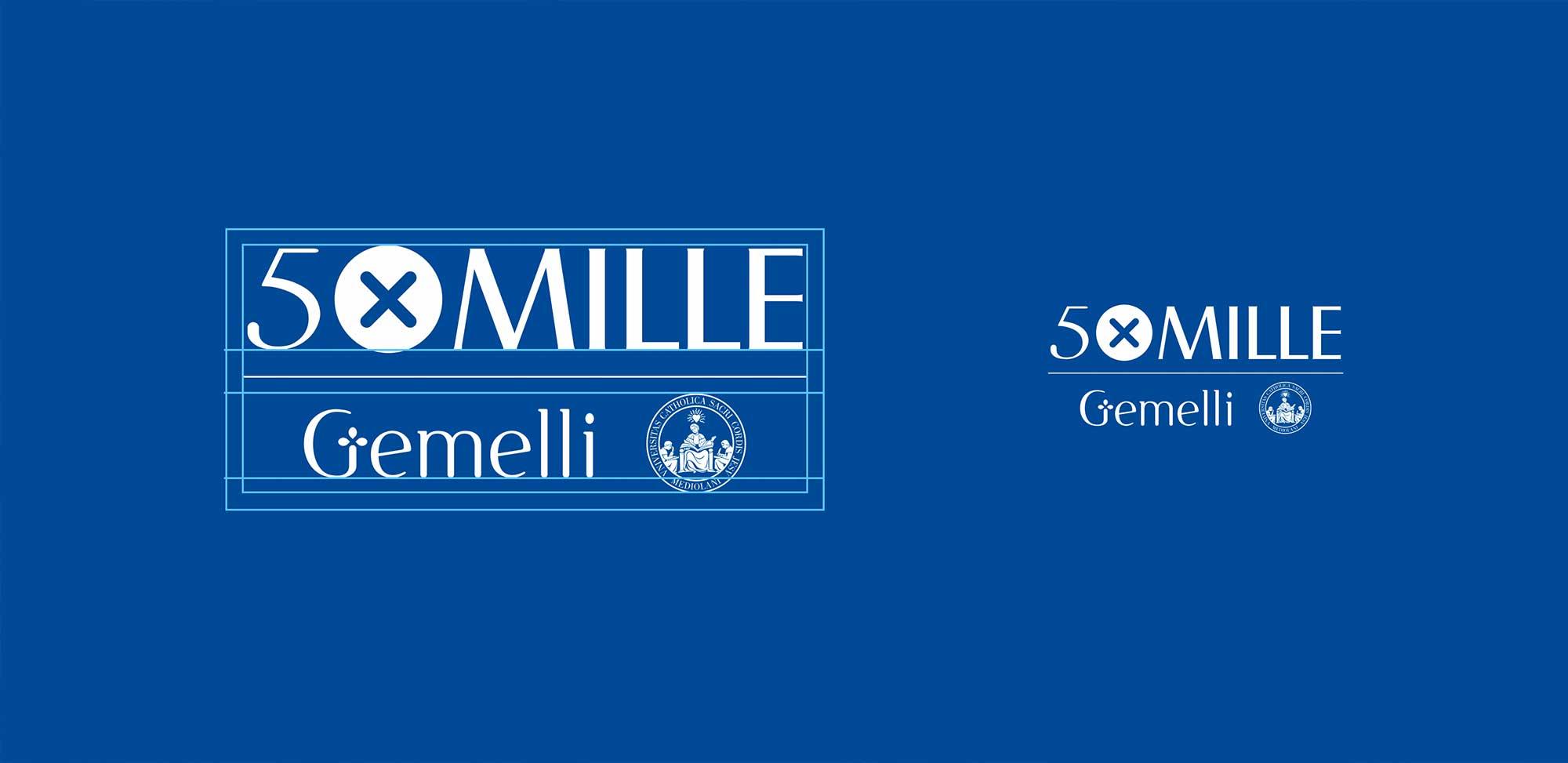 Costruzione del marchio Gemelli 5xMille