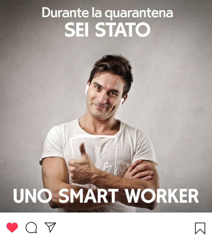 Campagna di sensibilizzazione social per Uretek: uno smart worker.
