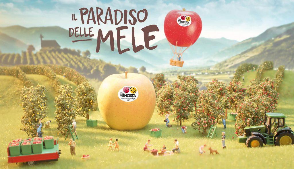 """Visual della campagna """"Il paradiso delle mele"""""""