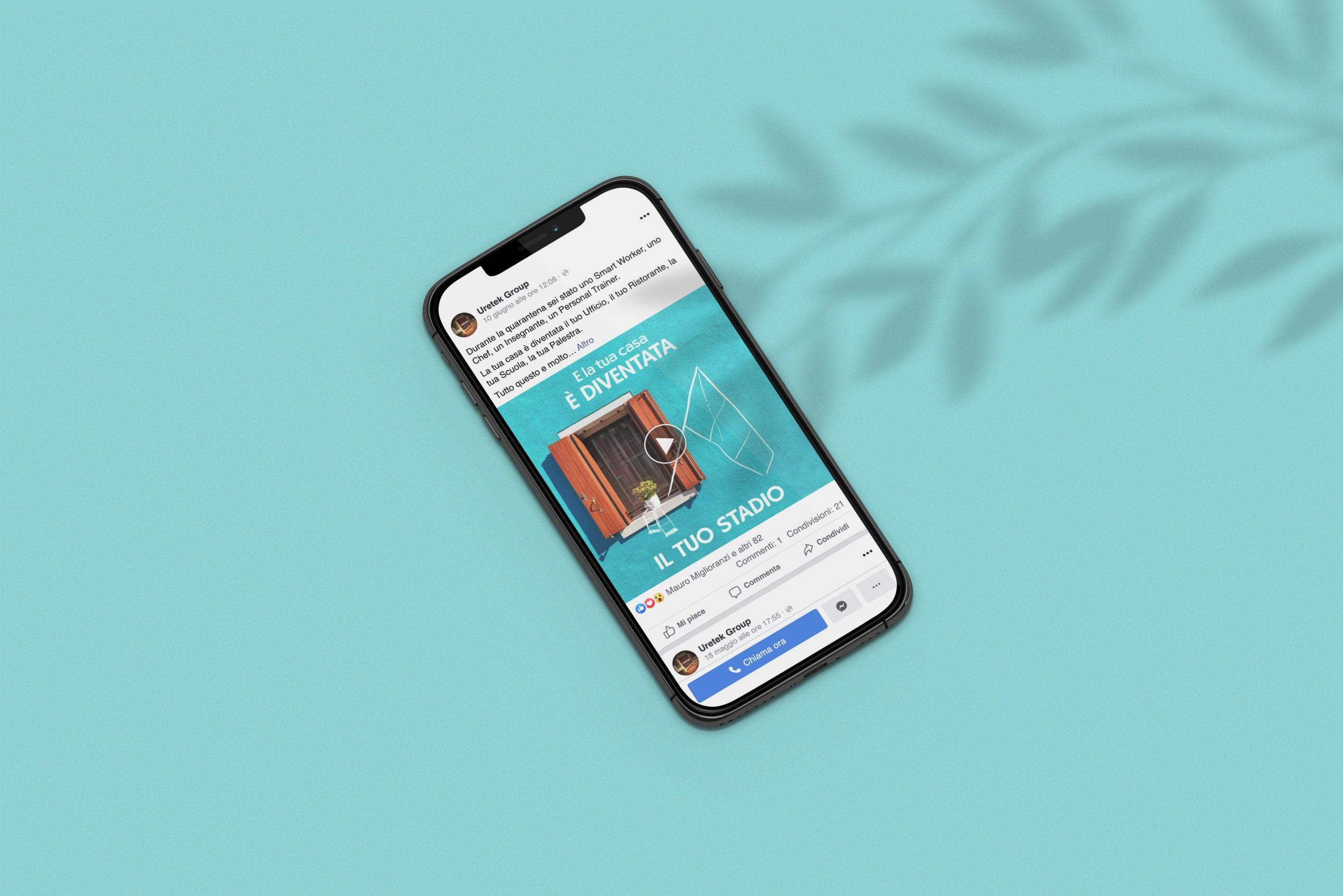 Campagna di sensibilizzazione social per Uretek su smartphone