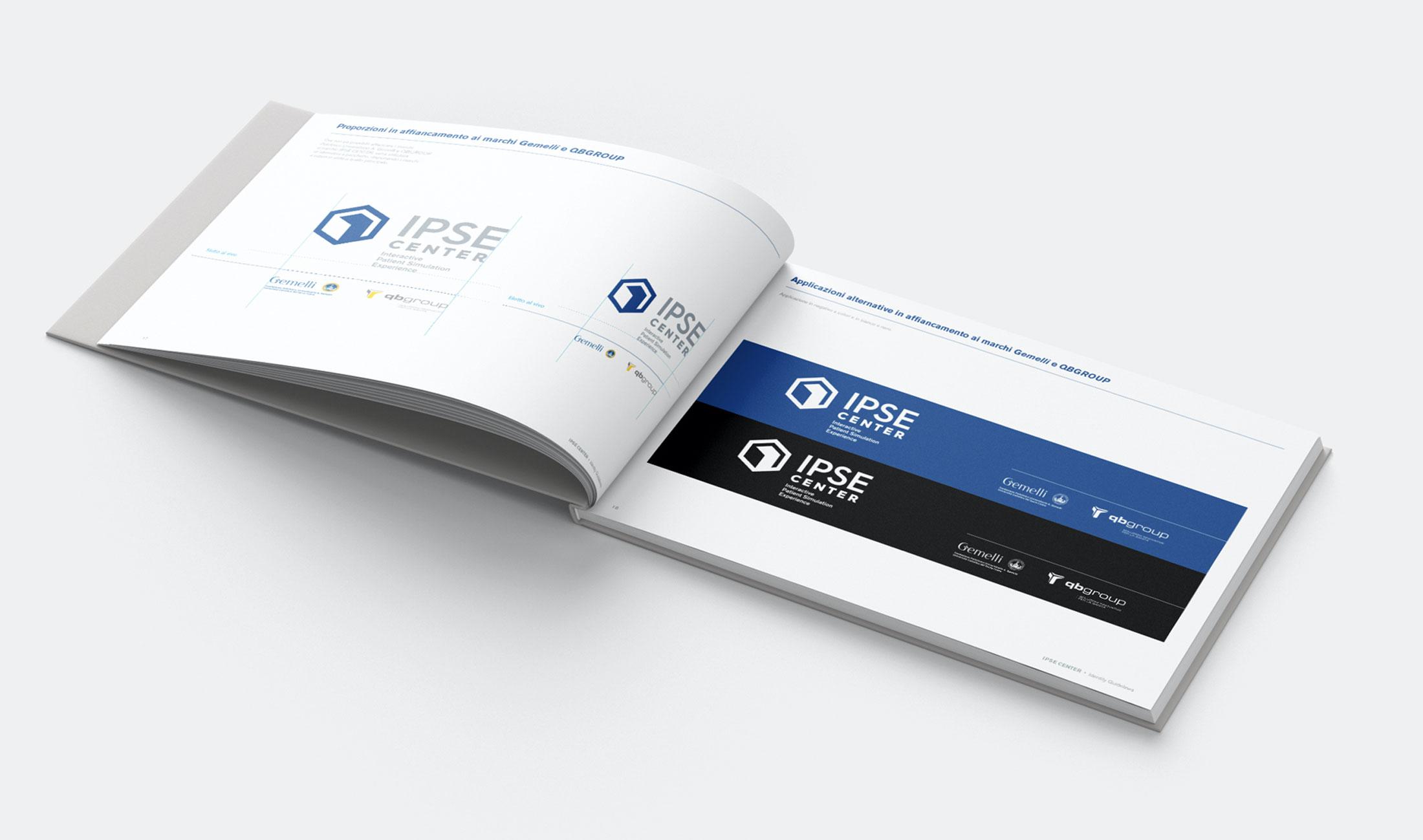 brand manual Ipse Center per la fondazione Gemelli