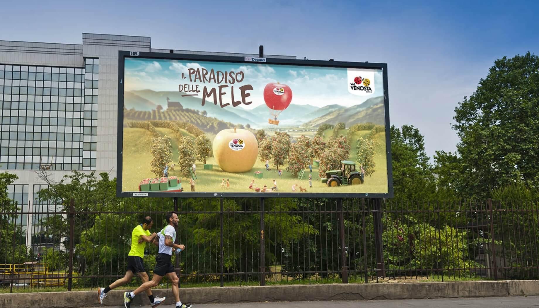 Affissione grande formato della campagna
