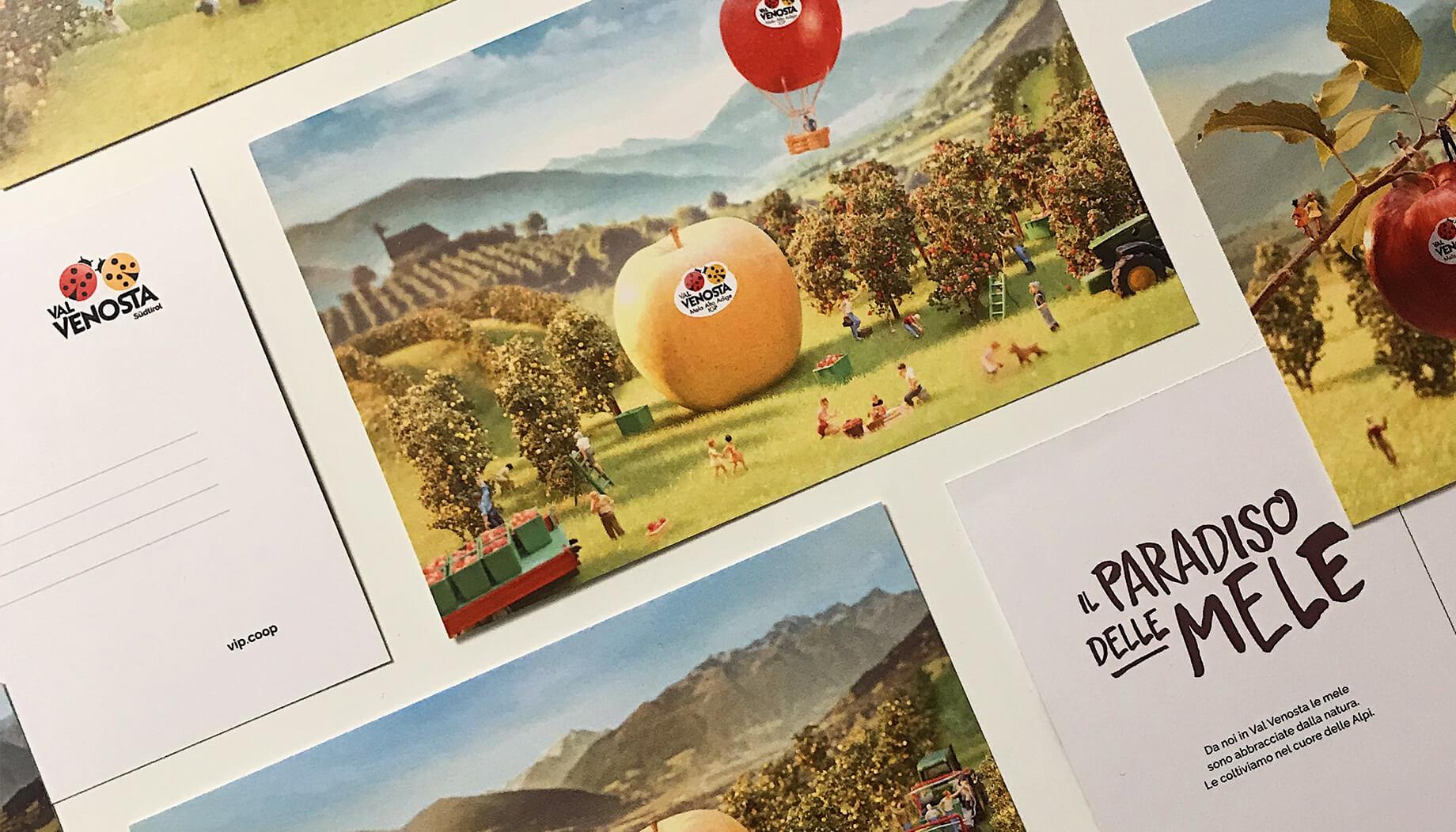Cartoline corporate con la campagna