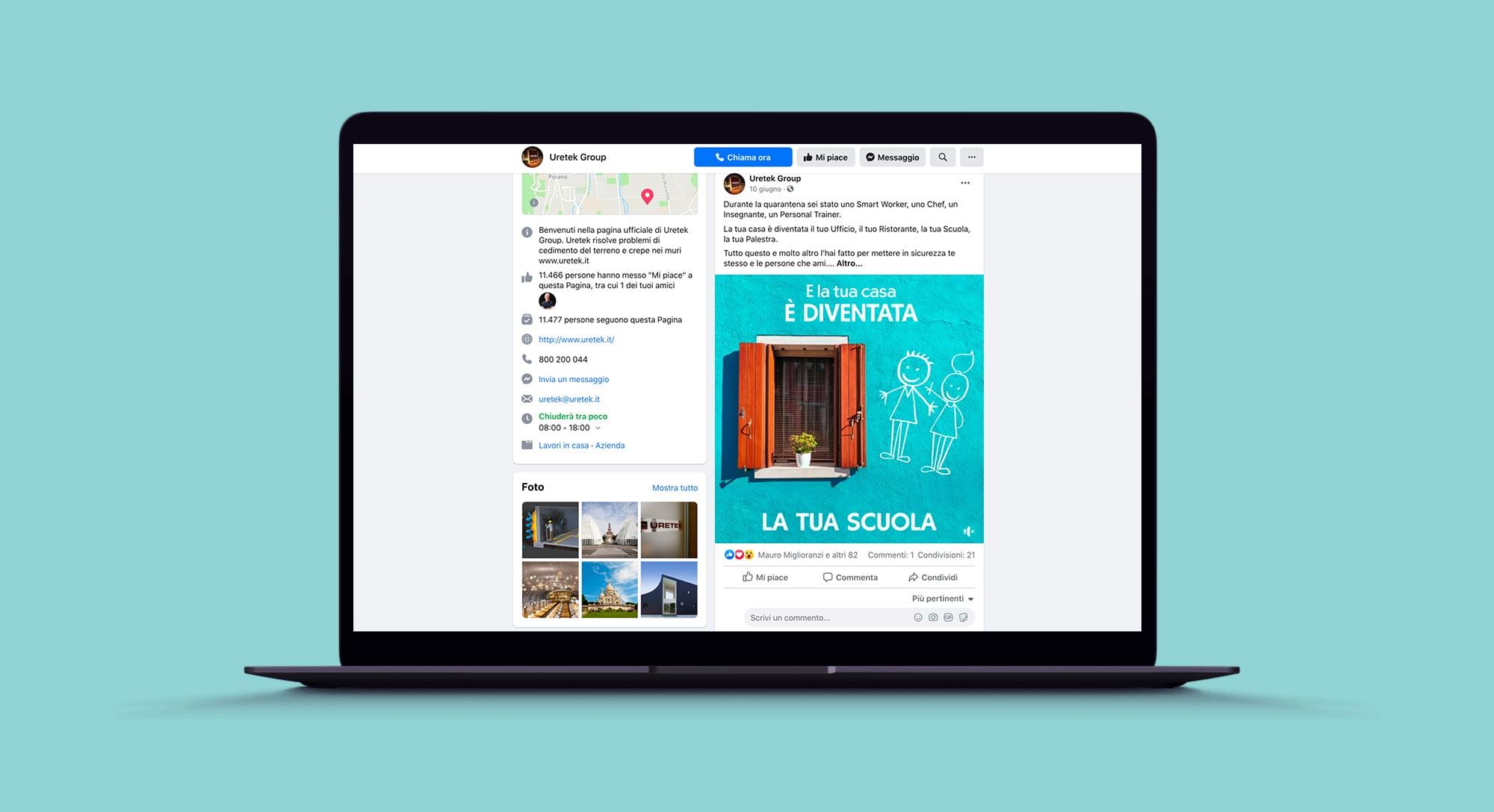 Campagna di sensibilizzazione social per Uretek su facebook